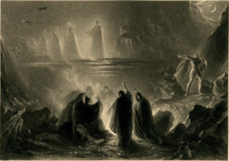 Three Witches, MacBeth, by James Henry Nixon, British Museum (1831) Three Witches, MacBeth, by James Henry Nixon, British Museum, 1831.png