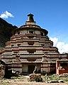 Tibetan Buddhist Chorten in 2006 detail, from- Dolpopa's Great Stupa at Jomonang, Tibet (cropped).jpg