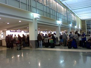 McGhee Tyson Airport - Northwest Airlines ticket counter.