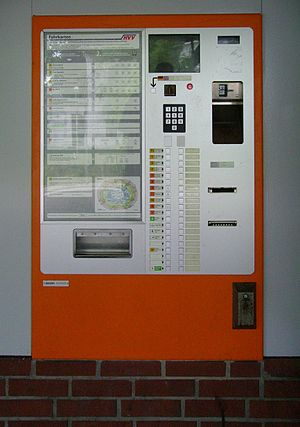 Hamburger Verkehrsverbund - Ticket machine in Hamburg (old edition)