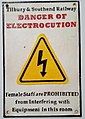 Tilbury & Southend Railway Electrocution Warning Sign.jpg