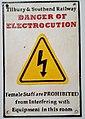 Tilbury & Southend Railway Electrocution Warning Sign.jpg