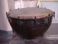 Timpani in the Church of St Peter and St Paul in Vilnius.JPG