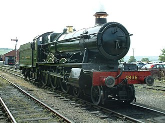GWR 4900 Class 4936 Kinlet Hall - 4936 Kinlet Hall at Toddington Station in 2005
