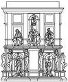 Tomba di giulio II, progetto del 1516.png