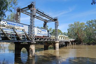 Tooleybuc Bridge Bridge crossing Murray River in Victoria, Australia