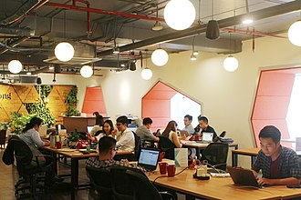 Coworking - Toong's design in Hanoi is a blend of cultural features and modern details.