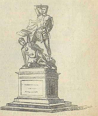 Savoyard crusade - 1852 sketch of the statue