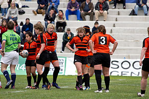 Netherlands women's national rugby union team - Netherlands during the 2013 Women's European Qualification Tournament.