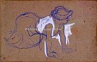 Toulouse-Lautrec - FEMME ACCROUPIE (BLANCHISSEUSE), 1893, MTL.155.jpg