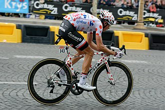 Warren Barguil - Barguil won the polka dot jersey at the 2017 Tour de France