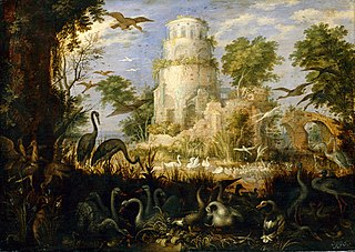 Tower Ruin at a Bird Pond