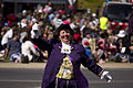 Town Crier, Judy Campbell, leading the SunRice Festival parade in Pine Ave (3).jpg