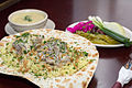 Traditional Mansaf served on flatbread.jpg