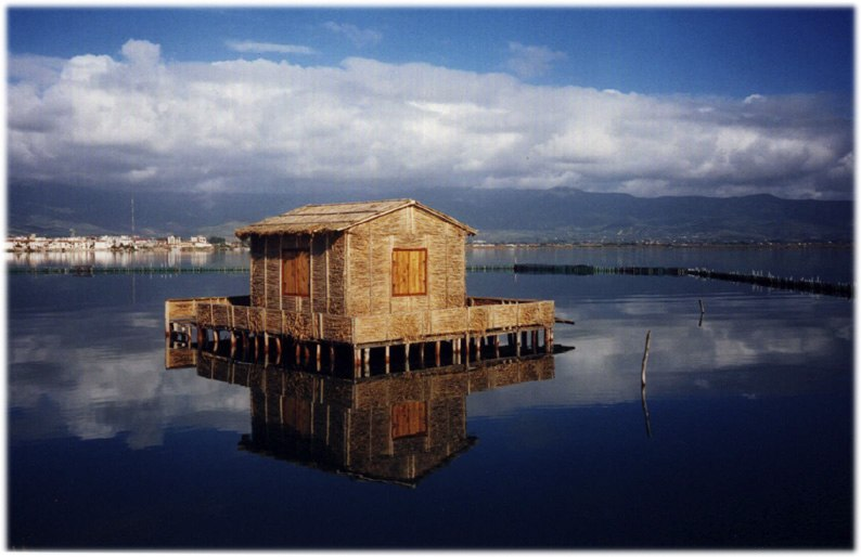Traditional Messolongi stilt house