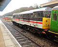 Train at Okehampton railway station.jpg