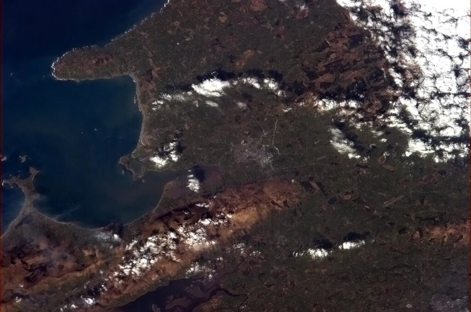 Tralee from the International Space Station 2013-03-17