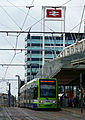 Tram at East Croydon Station (geograph 2658196).jpg
