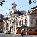 Trams in Sofia in front of Central Market Hall 2012 PD 16.JPG