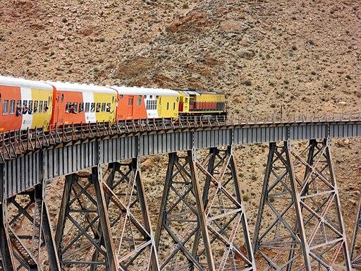 Tren a las nubes cruzando Viaducto la Polvorilla