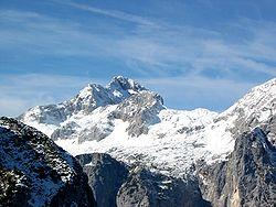 Monte Triglav en los Alpes Julianos de Eslovenia.