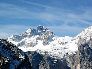 English: Triglav, the higest mountain in Slove...