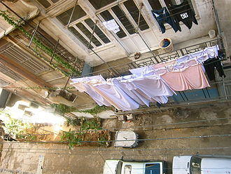 Clothes line - Clothes lines located in Tripoli in northern Lebanon.
