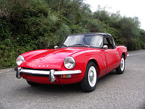 English: Front view of Triumph Spitfire MK3 (l...