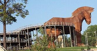 Mt. Olympus Water & Theme Park - The Trojan Horse go-kart track