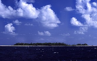 Economy of Tuvalu - Image: Tuvalu Funafuti Approach
