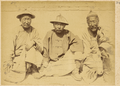 Two Government Workers, in Official Summer Straw Hats, Sitting with an Old Man. China, 1874-75 WDL1926.png