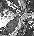 Tyeen Glacier, junction of tidewater glacier and glacial remnents, August 25, 1968 (GLACIERS 5943).jpg
