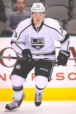 Tyler Toffoli - Image: Tyler Toffoli warming up before a game 2013 08 25 15 54