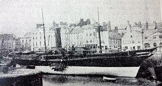 SS Tynwald (1846) - Image: Tynwald berthed at the Coffee Palace Berth, Douglas, Isle of Man