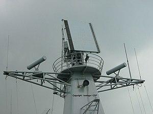 Type 381 Radar - Type 381 radar deployed on ''Luhai''-class DDG. Photo taken at IMDEX 2003.