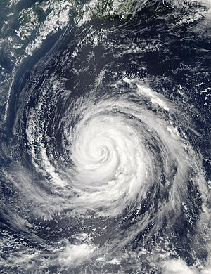 Typhoon Rusa - Typhoon Rusa south of Japan, shortly after peak intensity on August 27