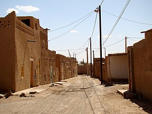 Merzouga - A typical street in the older part of Merzouga