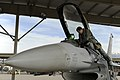 U.S. Air Force Maj. Shaun Cheema, a pilot with the 4th Fighter Squadron, climbs into an F-16 Fighting Falcon aircraft at Hill Air Force Base, Utah, Oct. 16, 2013 131016-F-SP601-016.jpg