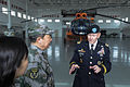 U.S. Army Gen. Martin E. Dempsey, right, the chairman of the Joint Chiefs of Staff, receives a briefing on the aviation capabilities of the People's Liberation Army April 24, 2013, near Beijing 130424-D-VO565-048.jpg