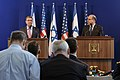 U.S. Defense Secretary Ash Carter and Israeli Defense Minister Moshe Yaalon answer questions during a joint press conference in Tel Aviv, Israel, July 20, 2015 150720-D-LN567-306c.jpg