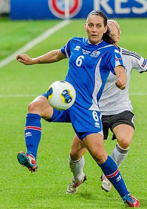 Hólmfríður Magnúsdóttir - Hólmfríður playing for Iceland at UEFA Women's Euro 2013