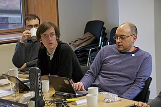 Andrew Gray (centre) at an OTRS workshop