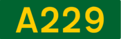 A229 road shield