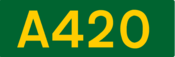 A420 road shield