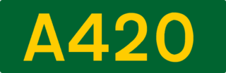 A420 road road in England