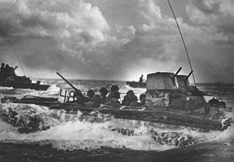 Tinian - U.S. Marines during the Battle of Tinian in 1944.