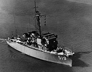 USS Ability (MSO-519) underway on 23 March 1959 (NH 96645)