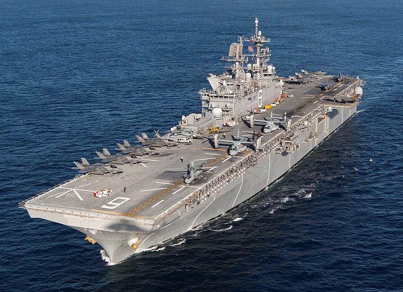 USS America (LHA-6) F-35B loaded.jpg