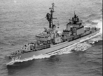 USS Brinkley Bass - Image: USS Brinkley Bass (DD 887) underway at sea in June 1968
