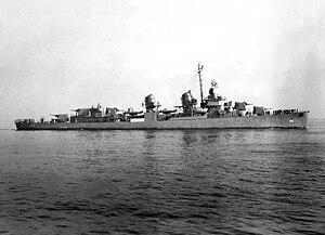 USS Guest (DD-472) underway off Boston, Massachusetts (USA), on 5 February 1943